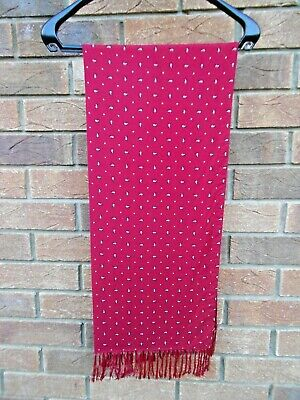Vintage 1960s Tootal Red Paisley  Scarf Retro/mod Goodwood/indie/scooter • 24.95£
