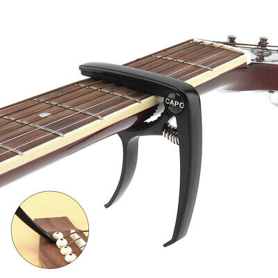 $ CDN6.53 • Buy Aluminum Black Durable Lightweight Electric Acoustic Guitar Capo With Pin Puller