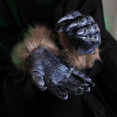2X Wolf Werewolf Claws Gloves Paws Halloween Fancy Dress Hands Props For Adults • 8.38£