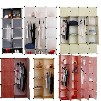 AU39.99 • Buy 12 Cube Storage Cabinet DIY Cupboard Wardrobe Shoe Rack Bookshelves Organiser