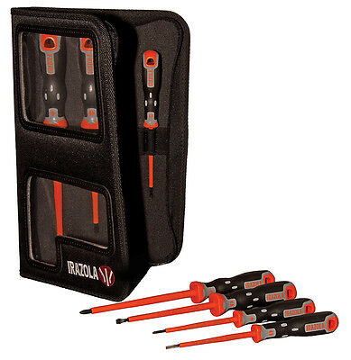 £39.95 • Buy Irazola Screwdriver Set 7pc - Electricians VDE Insulated Screwdrivers (Bahco)