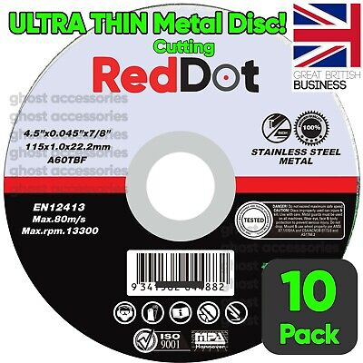 £5.70 • Buy 10 X ULTRA THIN METAL CUTTING SLITTING DISCS 115mm 4.5 INCH FOR ANGLE GRINDER