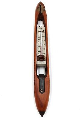 Vintage Modified Weaving Loom Shuttle With A Thermometer  • 15.50£
