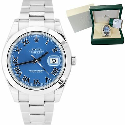 $ CDN10182.43 • Buy 2015 Rolex DateJust II Blue Smooth Stainless Steel 41mm Oyster Watch 116300