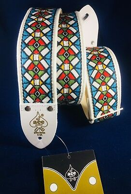 $ CDN31.89 • Buy D'Andrea Ace Vintage Reissue Guitar Strap 03; Jimi Hendrix Stained Glass Replica