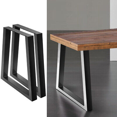 AU78.52 • Buy Artiss Coffee Dining Table Legs Steel Industrial Vintage Bench Trapezoid 2pcs