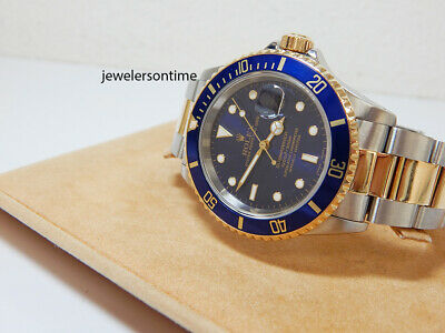 $ CDN11889.36 • Buy 1992 Rolex 18K/SS Blue Submariner 16613 Serviced & Polished Warranty