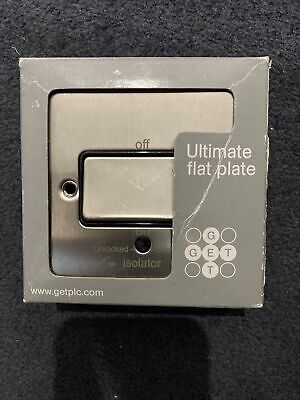 GET Ultimate Flat Plate 1 Gang TP 10AX Switch Disconnector Isolator GU1213BSS • 3£