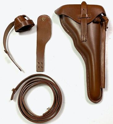 Wwi Wwii German P08 Luger Navy Artillery Luger Holster & Carry Strap • 33.46£