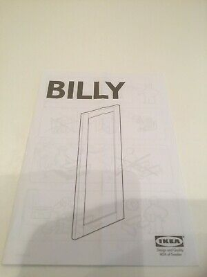 IKEA BILLY Instructions Hard Copy Leaflet 16 Pages Panelled Door • 1.95£