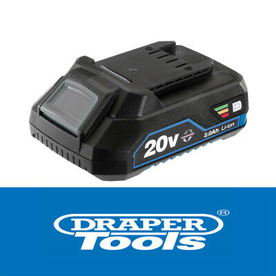 Draper 20v 2.0ah Cordless Replacement Interchangeable Spare New Li-ion Battery • 29.95£