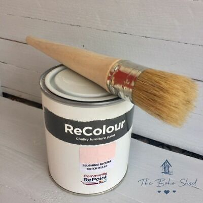 750ml CHALK BLUSHING BLOOM PINK Furniture PAINT Chalky Matt Smooth Great Finish • 12.95£
