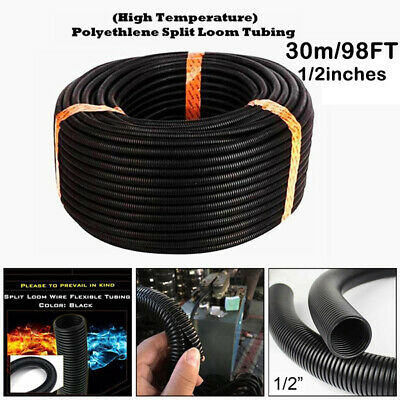 30m 1/2inch Trunking Spiral Conduit Split Tube Cable Tidy Wire Loom Harness • 17.83£