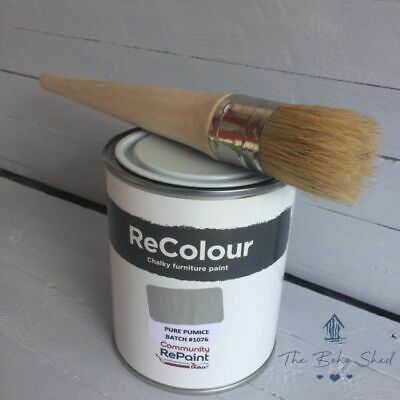 750ml CHALK PURE PUMICE GREY Furniture PAINT Chalky Matt Smooth Great Finish • 12.95£