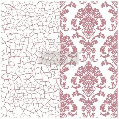 Prima Marketing Re-Design Decor Clear Cling Stamps 12 X12 -Imperial Crackle • 21.70£