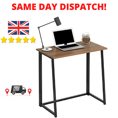 Cherry Tree Furniture Compact Foldable Computer Desk Laptop Desktop Table WALNUT • 69.99£