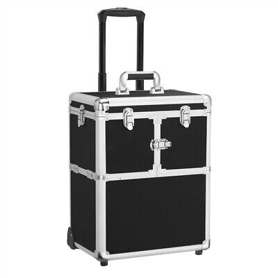 $56.99 • Buy Professional Rolling Makeup Travel Case Trolley Cosmetic Case With Mirror Used