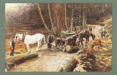£1.99 • Buy Nostalgia Postcard 1900 Mishap Small 2 Wheeled Timber Carriage In The Woods NS17