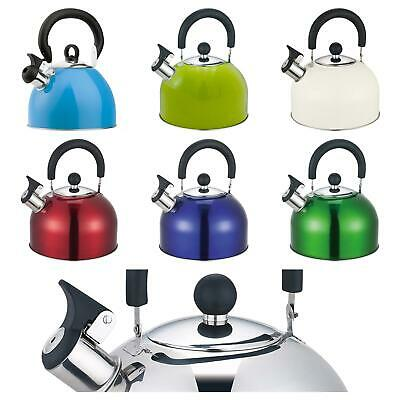 Whistling Kettle 2.5 Litre Stainless Steel Polished Stove Top Gas Electric • 9.95£