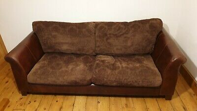 Halo Hastings Leather 3 Seater Sofa Settee Cushions Tetrad • 550£