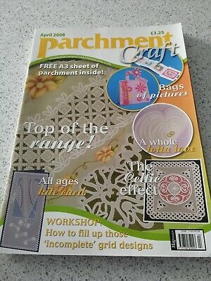 NEW, Parchment Craft Magazine, April 2008 • 3£