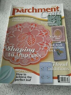 NEW, Parchment Craft Magazine, August 2008 • 3£