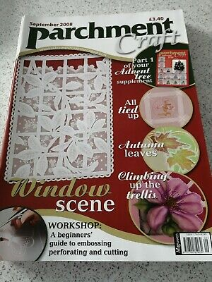 NEW, Parchment Craft Magazine, September 2008 • 3£
