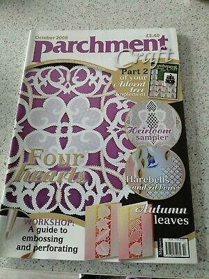 NEW, Parchment Craft Magazine, October 2008 • 3£