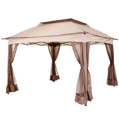 Outsunny Garden Folding Tent Heavy Duty Pop Up Gazebo Outdoor BBQ Party Marquee • 139.99£