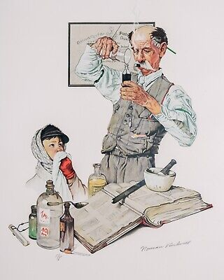 $ CDN1020.72 • Buy Norman Rockwell Lithograph - Pharmacist 1939 Signed Artist Proof