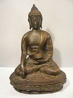 Antique Chinese Bronze Buddha Medicine Tibetan Signed  • 2,450£