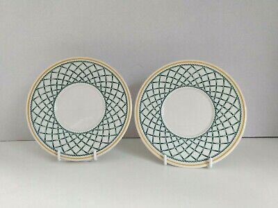 Villeroy & Boch Basket Coffee Saucers 15.2cm    X2    • 14.95£