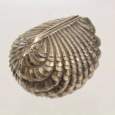 Rare Antique Hilliard & Thomason Sterling Silver Seashell Form Nutmeg Grater VR • 2,887.64£