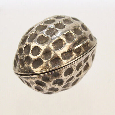 Rare Antique Hilliard & Thomason Sterling Silver Walnut Form Nutmeg Grater - SL • 2,887.64£