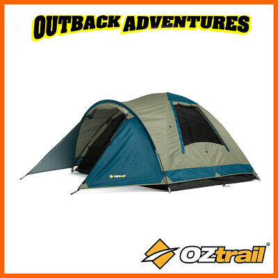 AU64 • Buy Oztrail Tasman 3v Dome Tent Family Camping 3 Person Hiking Camp