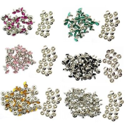 Diamante Rivets Studs Crystal For Leather Craft Bags Shoes DIY Decor 10mm • 2.69£