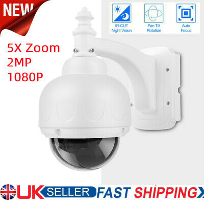 5X Zoom 2MP PTZ POE IP Security Camera Outdoor Speed Dome CCTV IR ONVIF Cam • 79.04£