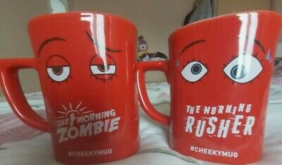 2 X Nescafe Mug Novelty Square Shape COLLECTABLE CUPS • 12.90£