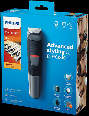 AU79 • Buy Philips Multigroom Series 5000 11-in-1 Face, Hair And Body Waterproof Trimmer