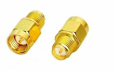 £3.25 • Buy 2x PureTek® SMA Male To RP- SMA Female RF Connector Adapter Gold Plated