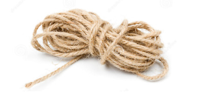 2mtr X 5mm Thick Beige Rustic Jute Twine Hessian String Cord Rope/Hand Craft • 3.35£