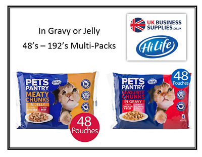 £19.23 • Buy HiLife Pet Pantry Favourite Chunks In Gravy Or Jelly 48 - 192 X 100g Pouches