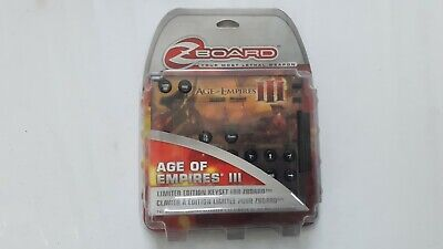 Age Of Empires Iii 3 Limited Edition Keyset For Zboard Z Board Pc Game Brand New • 29.99£