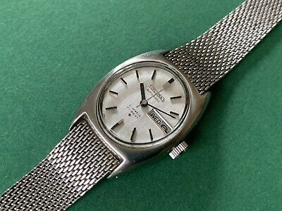 Rare Vintage Automatic Ladies Watch SEIKO Hi-Beat 21 Jewels - Day & Date • 89£