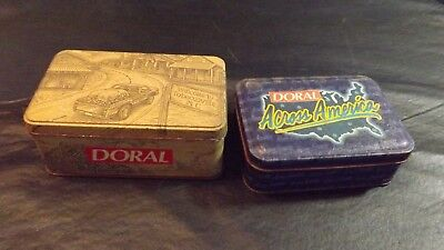 2 Doral Tabaccoville Collectible Tins With Match Box, & 2 Lighters • 4.41£