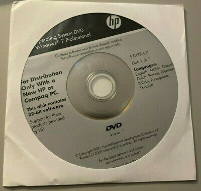 MS Windows 7 Professional - 32 Bit -  HP COA  - Mehrsprachig - 9 Languages - NEW • 12.02£