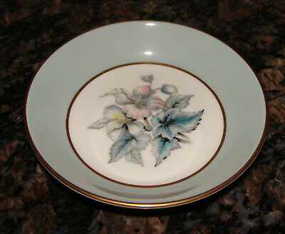 Royal Worcester Blue Gold Edged Woodland Pin Tray Trinket Dish 10cm - Excellent • 5.60£