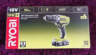 Ryobi ONE+ Cordless 18V Percussion Combi Drill & Battery - Brand New And Sealed • 78£