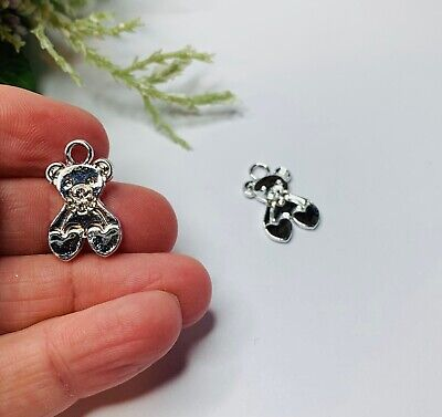 £3 • Buy Teddy Bear Charms Charms For Jewellery Making Bear Charms PK 2 Craft Supplies