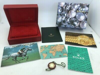 $ CDN67.07 • Buy Genuine Rolex Red Box For Datejust Full Set 14.00.02 Papers Booklets Very Clean